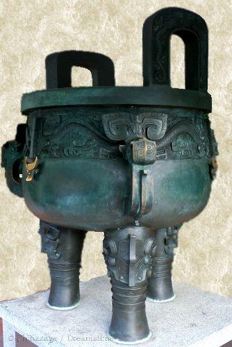 Shang dynasty, bronze , ding