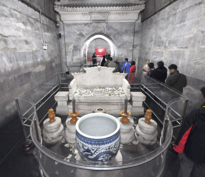 Ming tombs, throne, everlasting light, Dingling