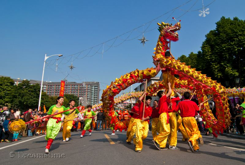 dance, dragon, Foshan, people