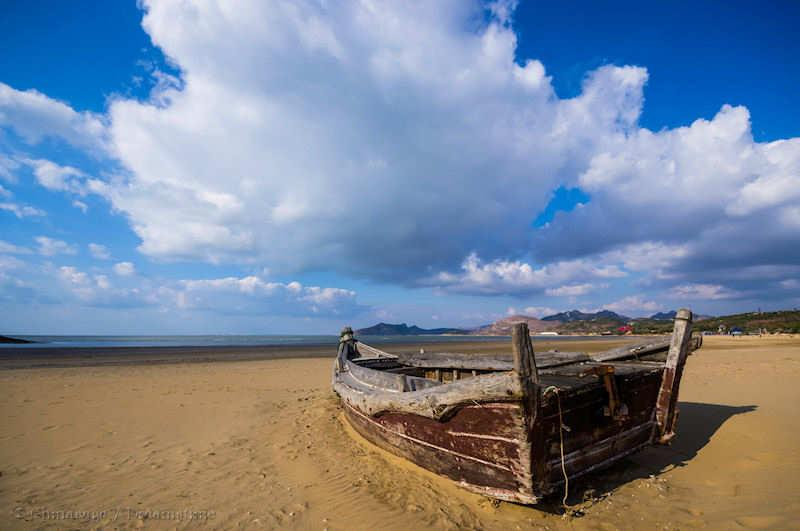 Shandong, beach, boat, coast