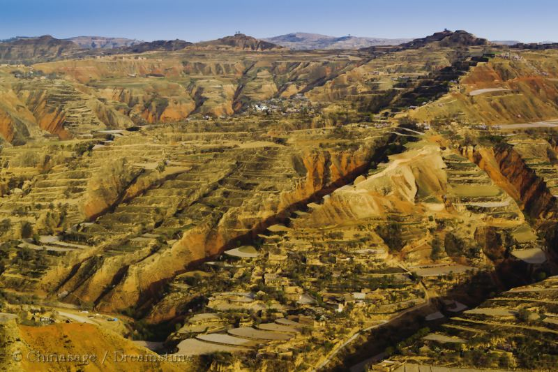 Gansu, terraces, land form