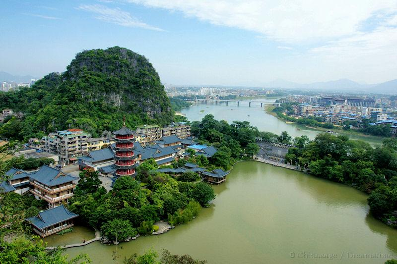 Guangxi, Guilin, view, landform