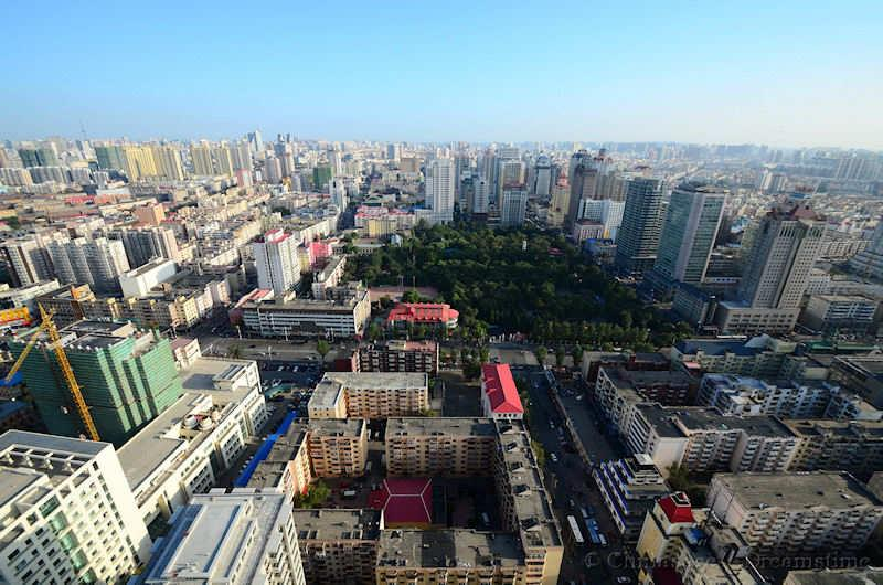 Heilongjiang, Harbin, modern housing, view