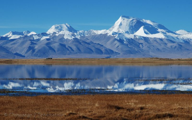 Tibet, lake, mountains