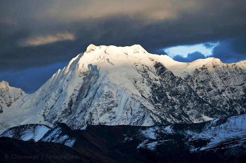 Sichuan, Mount Gongga, mountains, snow