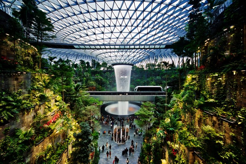Singapore, airport, vortex, gardens