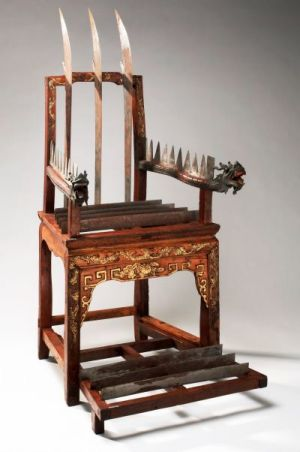 torture, knife chair
