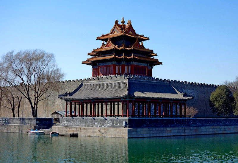 Forbidden City, tower, architecture