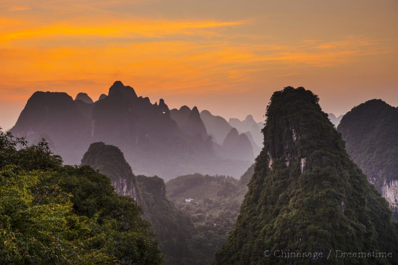 Guangxi, mountains, landform
