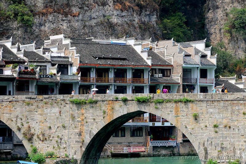 Guizhou, village, bridge