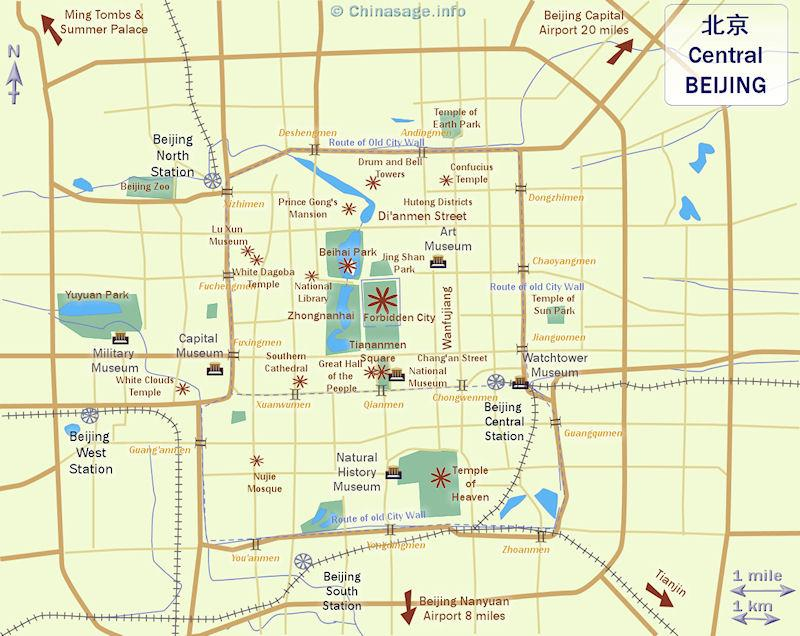 Central Beijing map