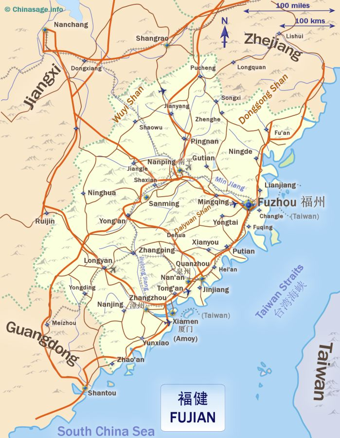 Map of Fujian,Fujian province map