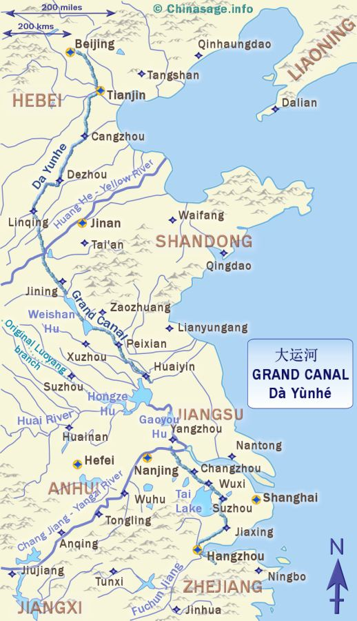 Grand Canal map