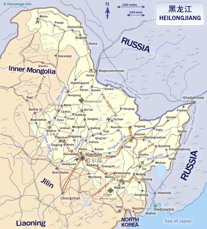 Map of Heilongjiang,Heilongjiang province map
