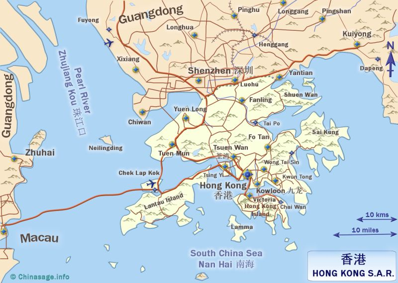 Map of Hong Kong,Hong Kong province map