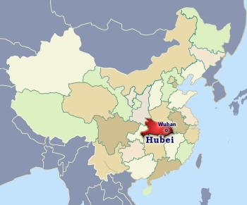 Position of Hubei in China