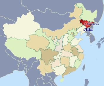 Position of Jilin in China