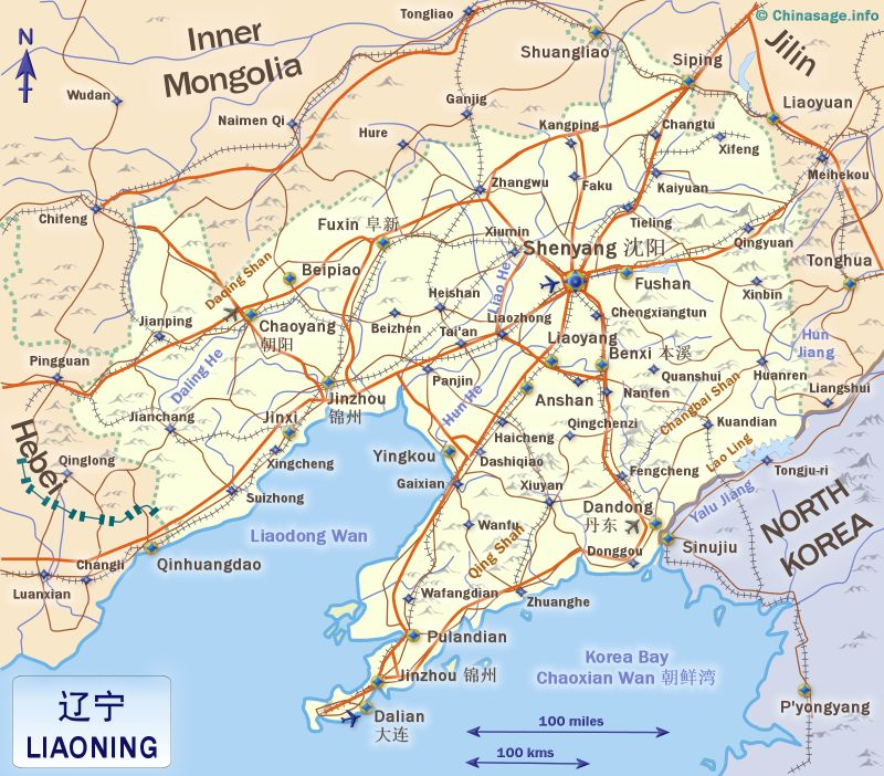 Map of Liaoning,Liaoning province map