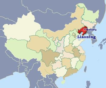 Position of Liaoning in China