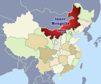 Position of Inner Mongolia in China