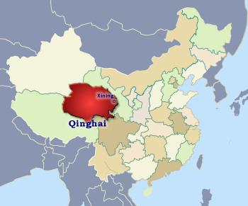 Position of Qinghai in China