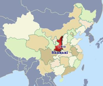 Position of Shaanxi in China