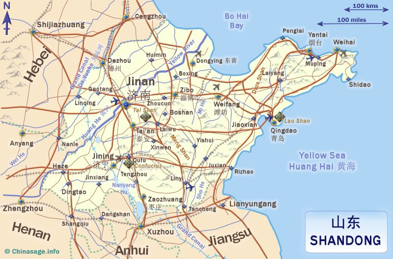 Map of Shandong,Shandong province map