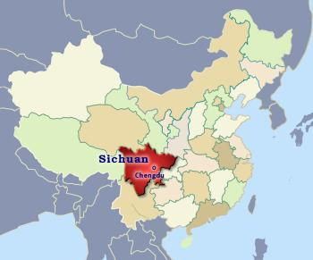 Position of Sichuan in China