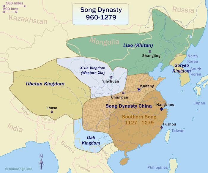 Map of China in the Song dynasty