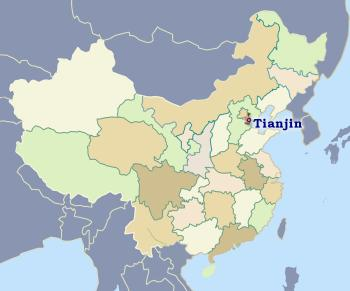 Position of Tianjin in China