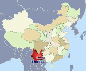 Position of Yunnan in China
