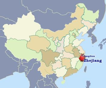 Position of Zhejiang in China