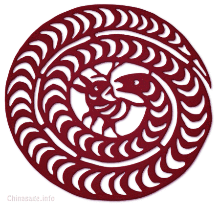 coiled snake,paper-cut,rabbit